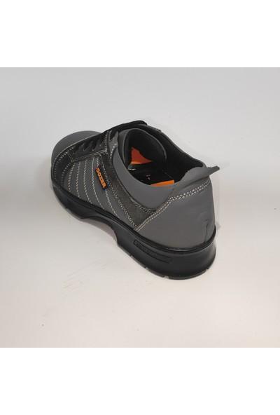 DOZER SHOES Çelik Burunlu Iş Güvenliği Ayakkabısı Sağlam Su Geçirmez Terletmez ( Bağcıklı Gri)