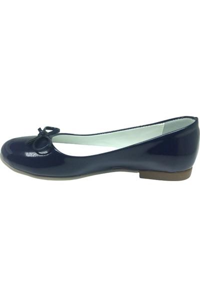 Fikretbebelolita Fikretbebe Filet Kız Çocuk Babet Lacivert Rugan Bıyık Fiyonk Abiye Ayakkabı Fantazi