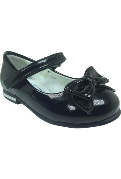 Fikretbebelolita Fikretbebe Bebe Kız Çocuk Babet Siyah Rugan Papyon Fiyonk Cırtlı Ayakkabı Abiye Fantazi