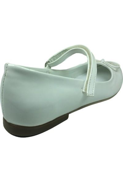Fikretbebelolita Fikretbebe Filet Kız Çocuk Babet Beyaz Rugan Bıyık Fiyonk Abiye Ayakkabı Fantazi Düğün