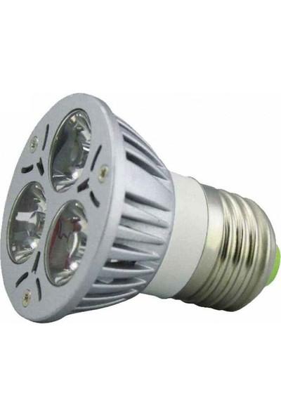 Technomax LED Ampül 3X1W Powerled Beyaz Metal E27 Technomax VL-0401