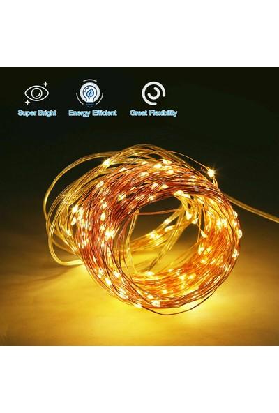 Buyfun Güneş Paneli Dize Işık Bakır Tel 8 Mod Peri Işıkları Sıcak Beyaz 20 m (Yurt Dışından)