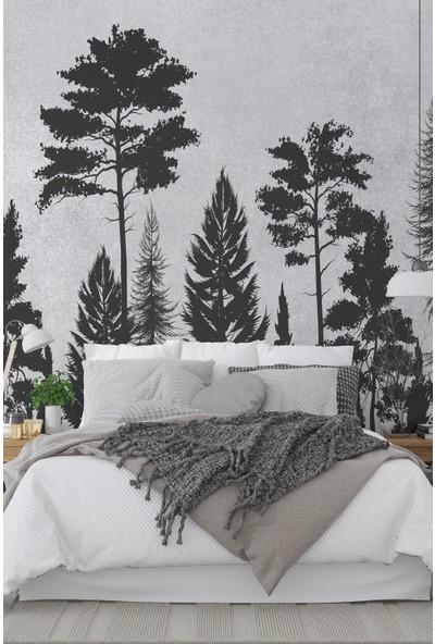 Dijitalya Ağaç Silüetleri | Doğa Ağaç | Özel Tasarım Duvar Kağıdı | 300X300H