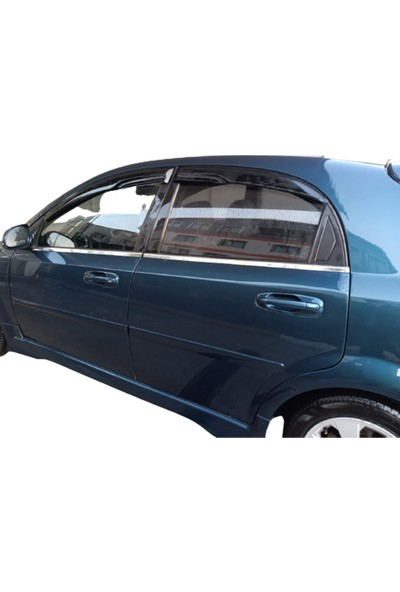 Blueoto Blue Chevrolet Lacetti Hb ( 2004-2011 ) Krom Cam Çıtası Paslanmaz Çelik 4 Parça Blue-Oto