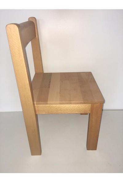 Çocuğum Gelişsin Ahşap Üstüste Geçen Masif Sandalye