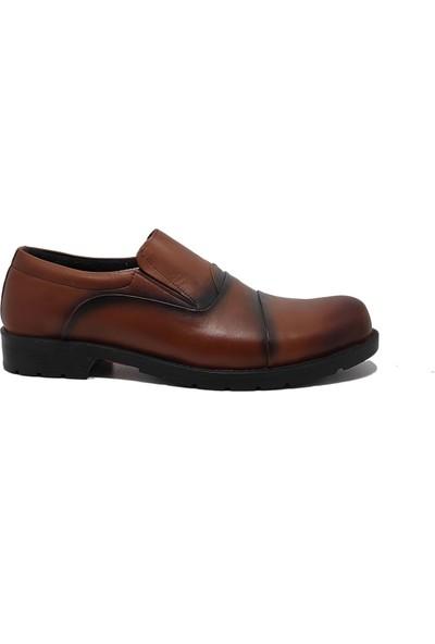 Budak 01 Merdane Günlük Erkek Deri Ayakkabı Kahverengi - 41