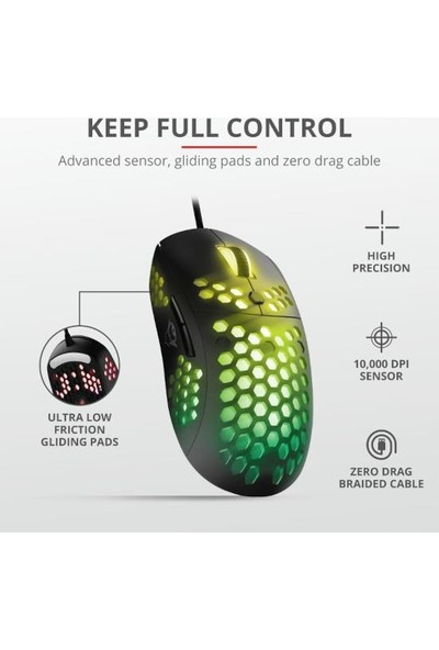 Trust 23758 GXT 960 Graphın Ultra-Lıghtweıght Gamıng Mouse