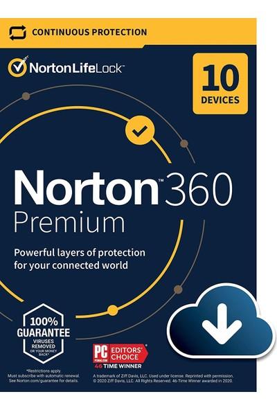 Norton 360 Premium 2021 10 Kullanıcı 1 Yıl
