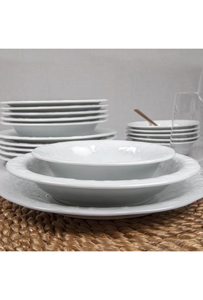 Güral Porselen Güral Dıamond 18 Parça 6 Kişilik Yemek Takımı