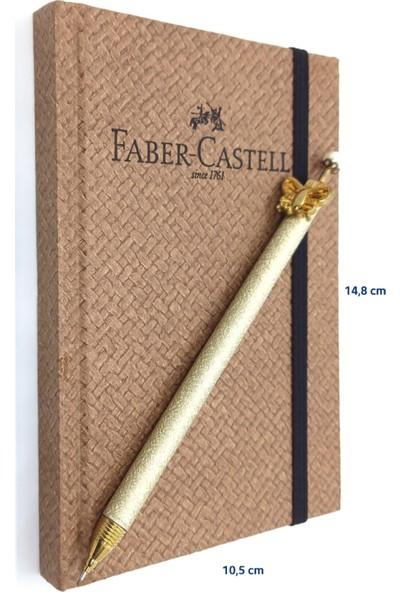 Faber-Castell A6 Bambu Sert Kapak Çizgisiz Ajanda + Mekanik Versatil Kalem 0,7 mm