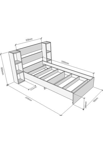Tocco 1097 Smart Lüx Kitaplıklı Tek Kişilik Karyola