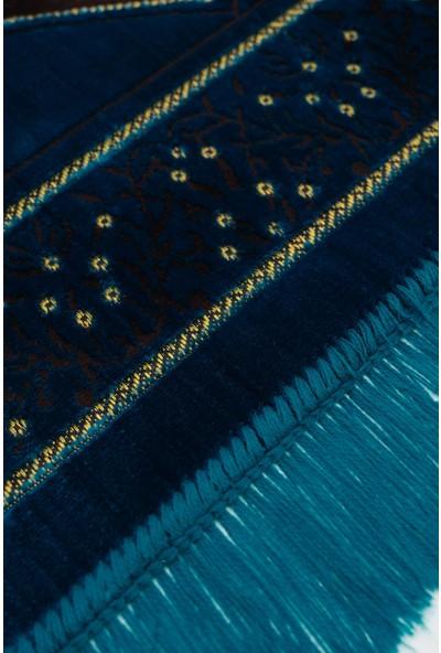 Altınoluk Seccade - Mavi - Siyah