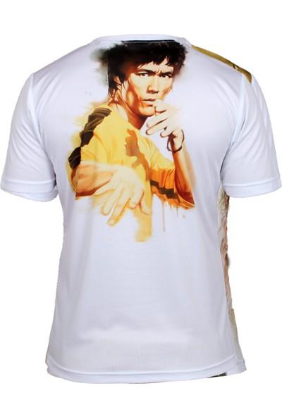 Do-Smai Bruce Lee Dijital Baskılı T-Shirt STR020 Beyaz