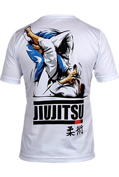 Do-Smai Jiujitsu Dijital Baskılı T-Shirt BJ001 Beyaz