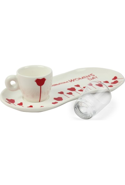 Elsanat 8 Mart Tek Kişilik Kahve Seti