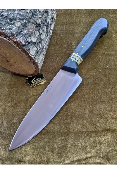 Taşçı Bursa El Yapımı Şef Bıçağı N6 Paslanmaz Çelik 30 Cm