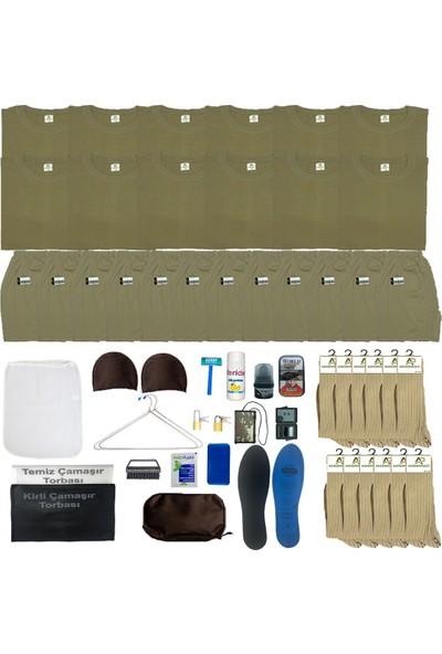 Asker Paketi 12'li Temel Asker Seti: Bedelli/acemi Yazlık Askeri Malzeme Paketi