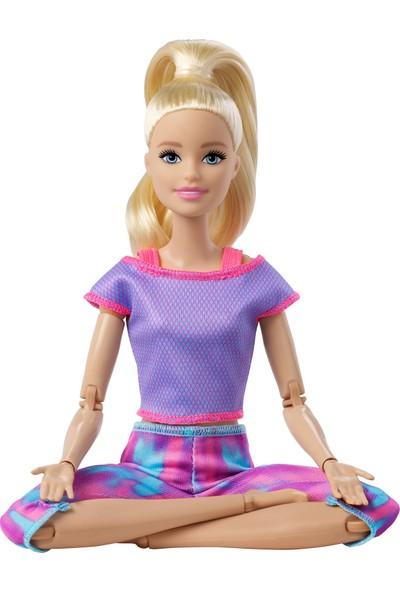 Barbie Sonsuz Hareket Bebeği Mor Renkli Spor Kıyafeti İle Sarışın Uzun Saçlı Bebek Gxf04
