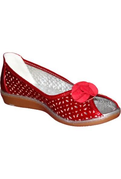 VETTA-23580 Kız Çocuk Fiyonklu Babet Ayakkabı Kırmızı 36