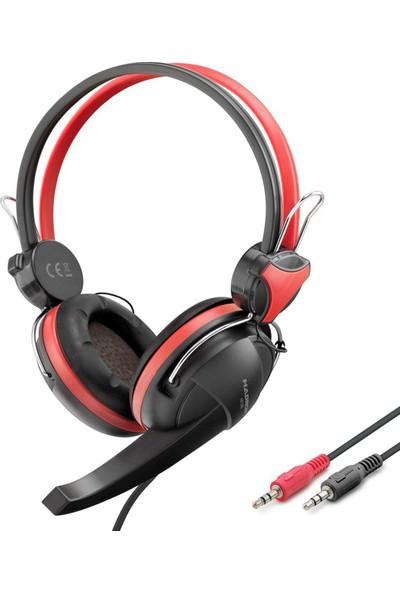 Hadron HD1295 Kulaküstü Gaming Kulaklık - Kırmızı