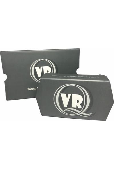Grotte Vr Q Sanal Gerçeklik Gözlüğü Google Cardboard 3D Vr Gözlük -Gri