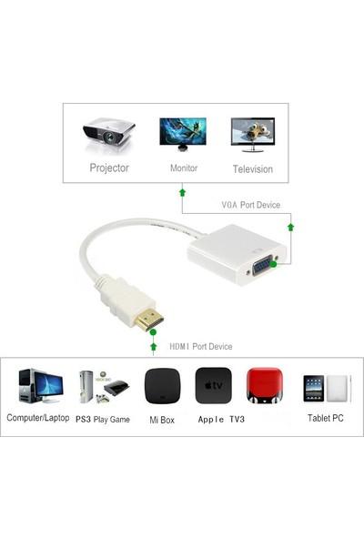 Alfais 4547 HDMI To VGA Monitör Çevirici Dönüşütürücü Adaptör