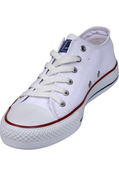M.p 211 - 1842 Zn Beyaz Kadın Kanvas Ayakkabı