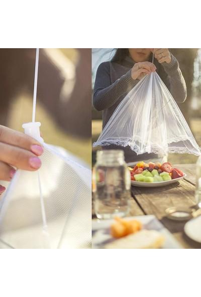 5dm Gıda Koruma Şemsiyesi Yiyecek Yemek Sinek Koruyucu Tül Aparat