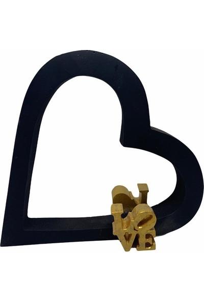 Flovart Aşk Çemberi Dekoratif Kandil - Mat Siyah - Kandil Yağı Hediyeli