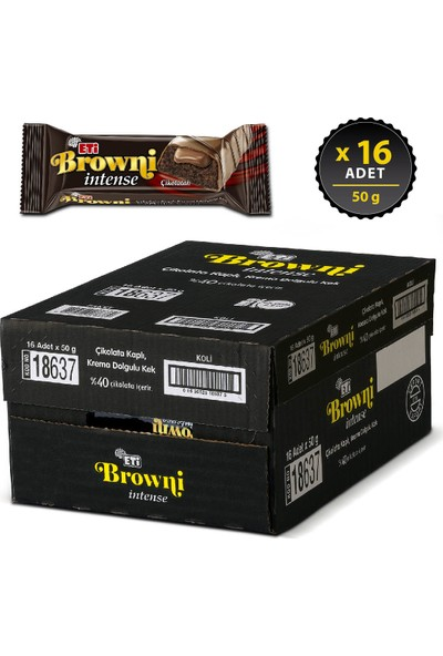 Eti Browni Intense 50 g x 16 Adet