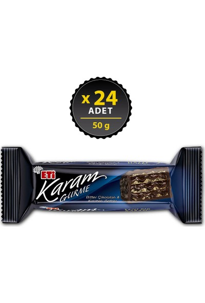 Eti Karam Gurme Bitter Çikolatalı 50 g x 24 Adet