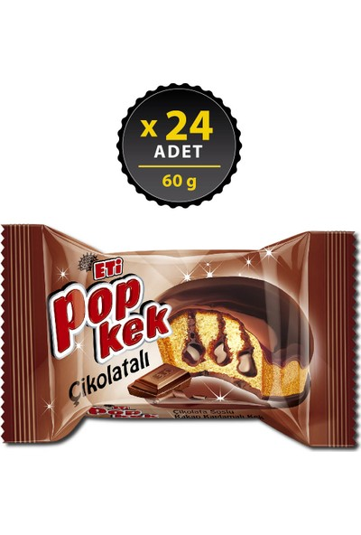 Eti Popkek Çikolatalı 60 g x 24 Adet