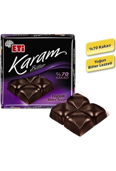 Eti Karam %70 Kakaolu Bitter Çikolata 60 g x 6 Adet