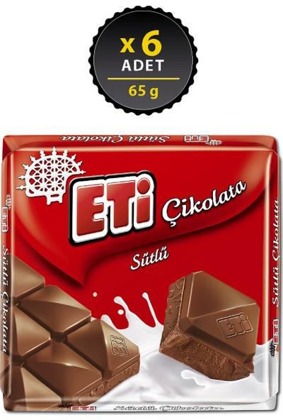 Eti Çikolata Sütlü Kare 65 g x 6 Adet