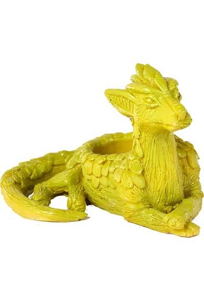 Flovart Özel Tasarım Dekoratif Ejderha Dragon Saksı - Yeşil