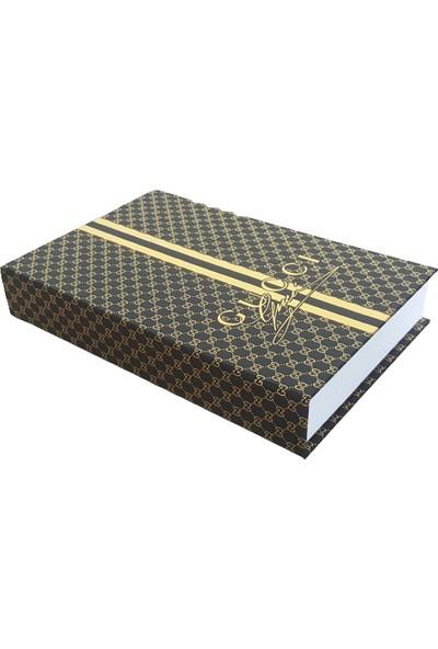 Moda Feneri 3lü Siyah Gold Kitap Kutu 20
