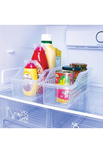 Decobella Buzdolabı Raf Düzenleyici Organizer Sepet