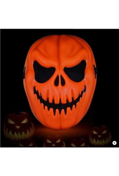 Halloween Turuncu Renk Cadılar Bayramı Balkabağı Maskesi