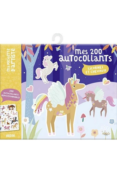 Mes 200 Autocollants - Licornes Et Chevaux: 200 Autocollants Repositionnables (Ma Pochette D'artiste) (French Edition) - Maude Guesne