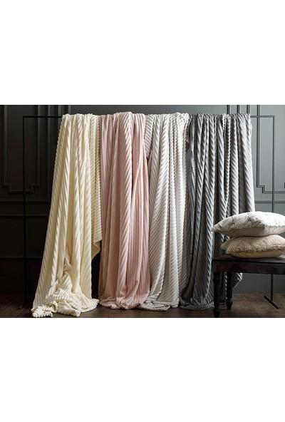 Unicolor Çok Amaçlı Süper Soft Çift Kişilik Battaniye&Yatak Örtüsü Krem