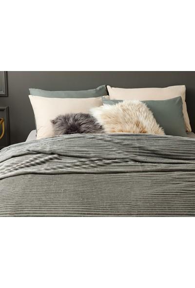 Unicolor Çok Amaçlı Süper Soft Çift Kişilik Battaniye&Yatak Örtüsü Antrasit