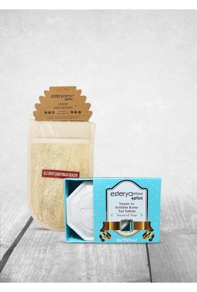 Esterya Plus Anti Selülit Yosun Sabunu 125 gr ve Kabak Lifli Vücut Kesesi