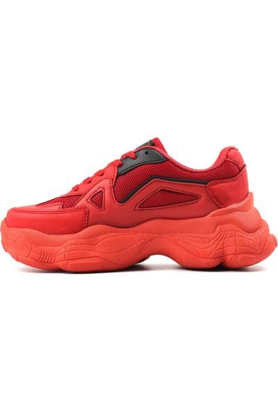 Dark Step Sneaker Ayakkabı Kadın Kırmızı O58Z0D0141