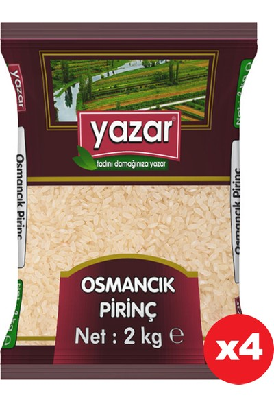 Yazar Osmancık Pirinç 2 kg x 4 Paket
