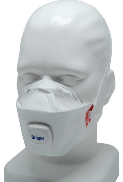 Drager 1930 V Comfort & Fit Ffp3 N95 / N99 Uygun Ventilli Maske Tekli Hijyenik Paket