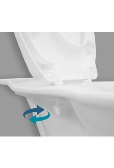 Rona Parlak Bordo Tisa Thermoplast Standart Klozet Kapağı (Alttan Monte)