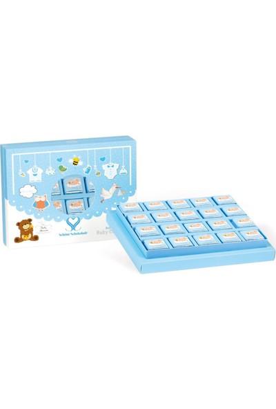 Chocolato Mavi Bebek Kuşaklı Madlen Sütlü Çikolata