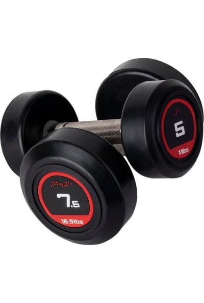 Sertay Spor 7,5 kg x 2 Adet Kauçuk Kaplı Dambıl Set