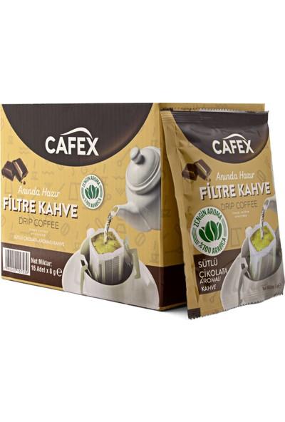 Cafex Poşet Filtre Kahve 16'lı Paket Sütlü Çikolata Aromalı 8 gr