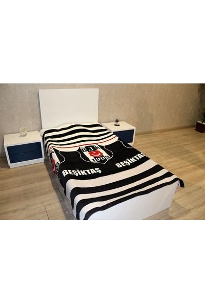 Zorluteks Lisanslı Tek Kişilik Beşiktaş Logo Battaniye 150 x 200 cm